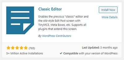 wordpress classic editor pouya eti 2