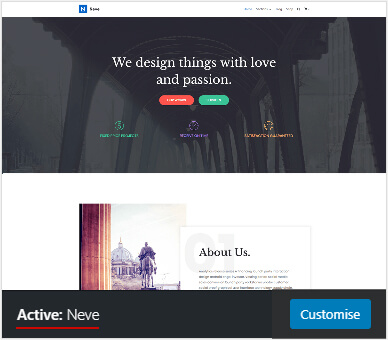 wordpress theme neve active pouya eti