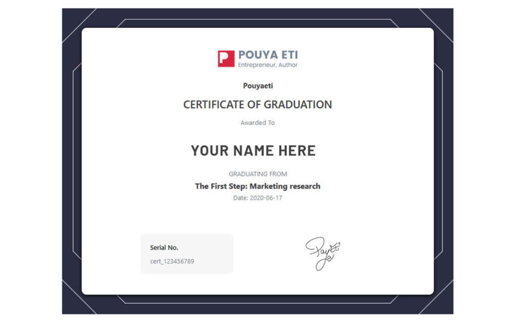 Certificate - Marketing Mentor